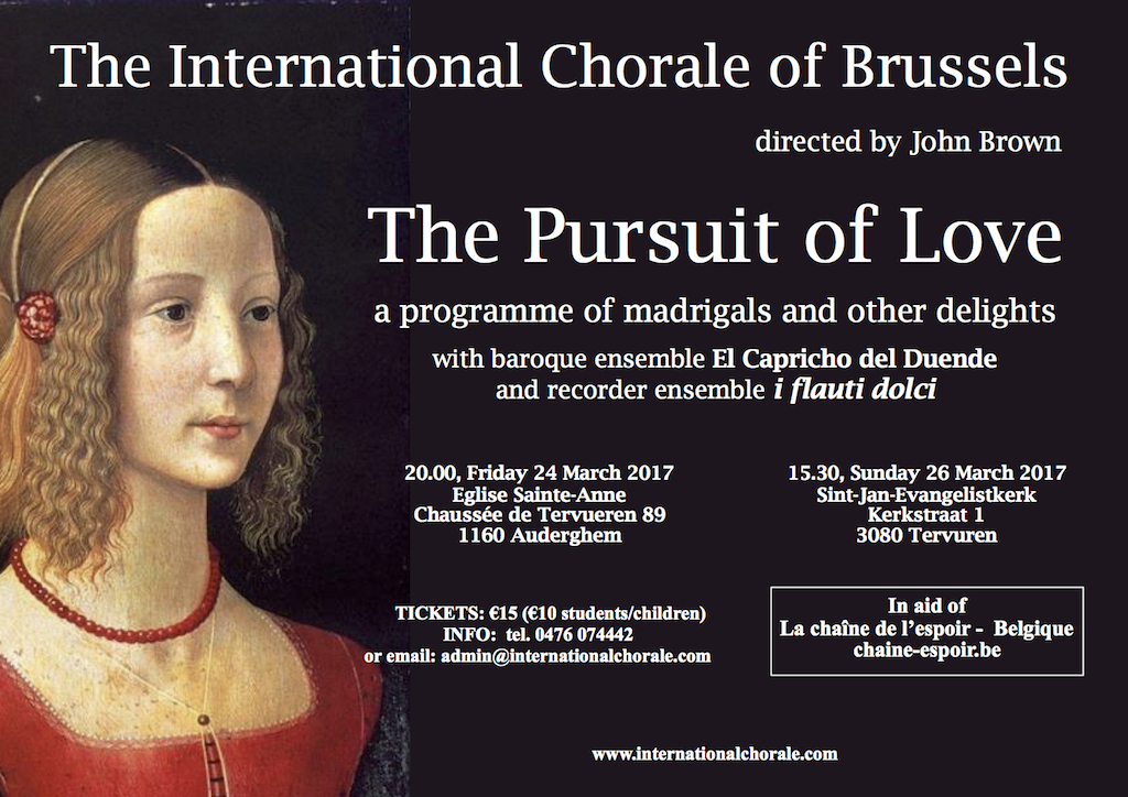 affiche concert international choir of Brussels